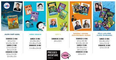 Presses Aventure au Festival BD de Montréal 2019