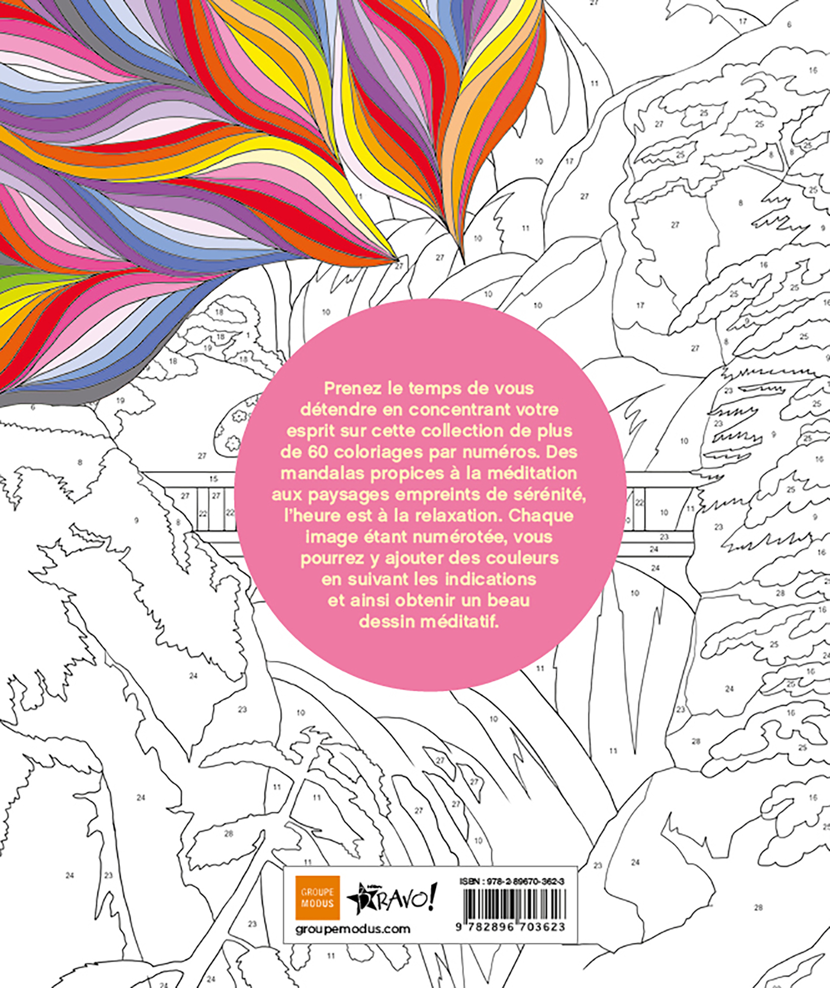 Coloriage Par Numeros Detente Editions Bravo