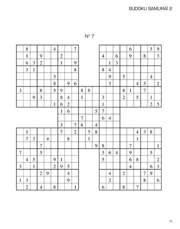 Sudoku samourai facile imprimer - Grilles sudoku a imprimer 16x16 ...